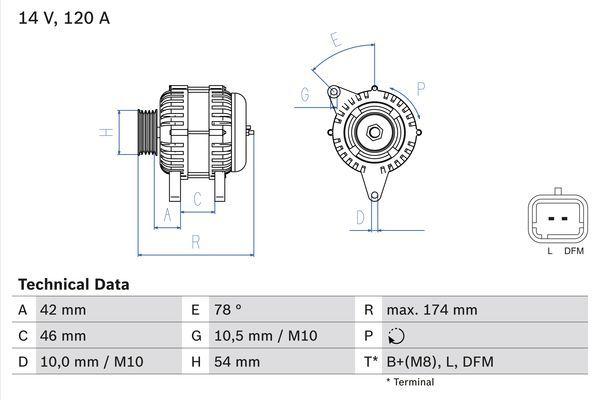 Lichtmaschine 0 986 049 091 BOSCH 4909 in Original Qualität