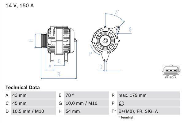 Lichtmaschine 0 986 049 161 BOSCH 4916 in Original Qualität