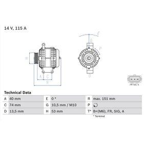 Generator 0 986 049 460 MONDEO 3 Kombi (BWY) 2.0 TDCi Bj 2003