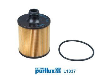 PURFLUX  L1037 Ölfilter Ø: 83mm, Innendurchmesser: 27mm, Höhe: 122mm