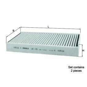 Filter, Innenraumluft Breite: 115,0mm, Höhe: 31,0mm mit OEM-Nummer 64116823726