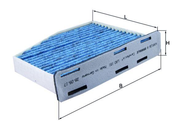 KNECHT  LAO 181 Filter, Innenraumluft Länge: 214mm, Breite: 285mm, Höhe: 57mm