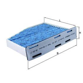 Filter, Innenraumluft Länge: 214mm, Breite: 285mm, Höhe: 57mm mit OEM-Nummer 1K1819007