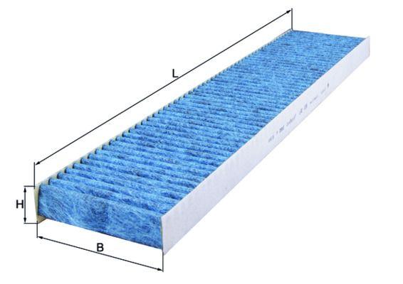 MAHLE ORIGINAL  LAO 226 Filter, Innenraumluft Länge: 536mm, Breite: 110mm, Höhe: 30mm