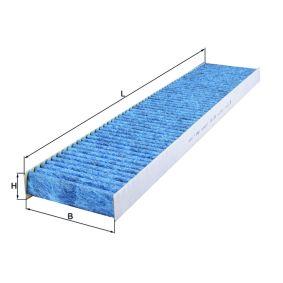 Filter, Innenraumluft Länge: 536,0mm, Breite: 110,0mm, Höhe: 30,0mm mit OEM-Nummer 1 125 536