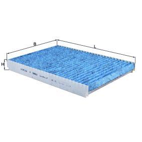 Filter, Innenraumluft Länge: 283mm, Breite: 207mm, Höhe: 30mm mit OEM-Nummer 1J0 819 648