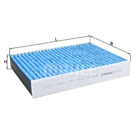 Filter, Innenraumluft Länge: 248,0mm, Breite: 198,0mm, Höhe: 40,0mm mit OEM-Nummer 64119395845
