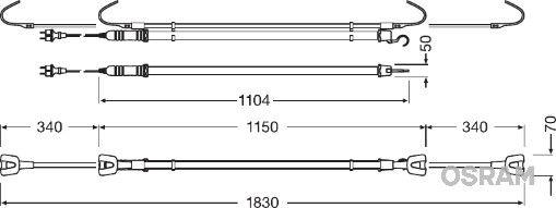 Handlampor LEDIL104 OSRAM LEDIL104 original kvalite
