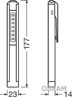 Ръчна лампа (фенерче) LEDIL105 OSRAM LEDIL105 в оригиналното качество