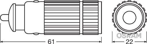 Φακος Χειρος LEDIL205 OSRAM LEDIL205 Γνήσια ποιότητας
