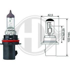 Крушка с нагреваема жичка, главни фарове HB5, PX29t, 12волт, 65/55ват LID10033