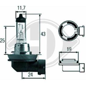 Крушка с нагреваема жичка, фар за дълги светлини H8, 35ват, 12волт LID10034