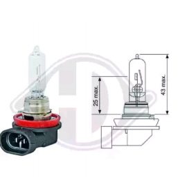 Bulb, spotlight H9 12V 65W PGJ19-5 LID10035 FORD Focus C-Max (DM2)