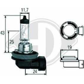 Bulb, spotlight H11, 55W, 12V LID10038 MERCEDES-BENZ C-Class, E-Class, A-Class