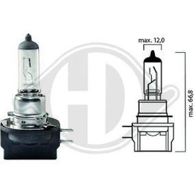 Bulb, headlight H11B, PGJY19-2, 12V, 55W LID10039