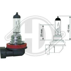 izzó, távfényszóró H11, 55W, 12V LID10040