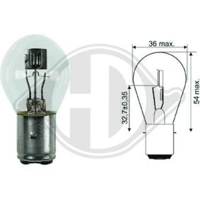 Bulb, spotlight S1 12V 25/25W BA20d Symmetric LID10043