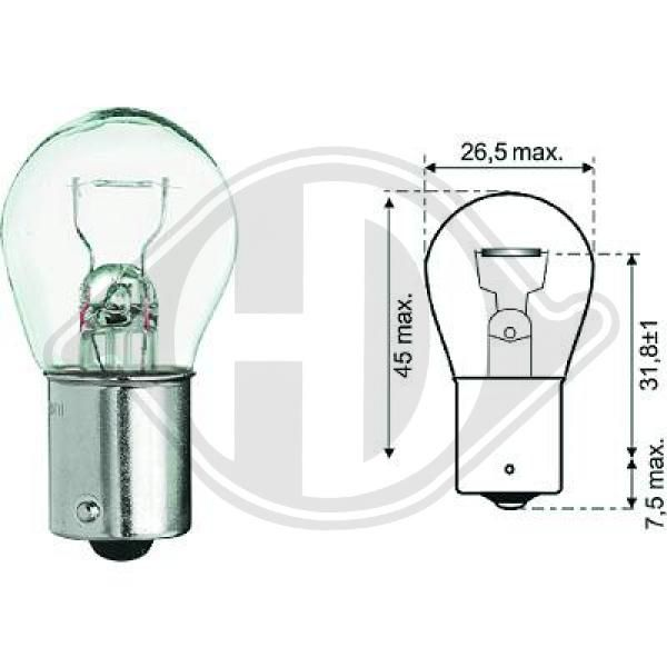 Bulb, indicator DIEDERICHS LID10047 rating
