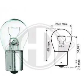 Крушка с нагреваема жичка, мигачи P21W, Ba15s, 12волт, 21ват LID10047