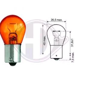 Bulb, indicator Yellow 12V 21W, PY21W, Bau15s LID10054 FORD FOCUS, FIESTA, MONDEO