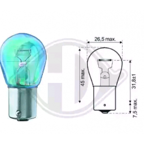 Glühlampe, Blinkleuchte PY21W, Bau15s, 12V, 21W LID10055