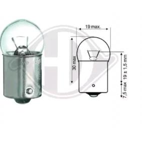 Крушка с нагреваема жичка, светлини купе R5W, Ba15s, 5ват, 12волт LID10059 VW GOLF, PASSAT, POLO