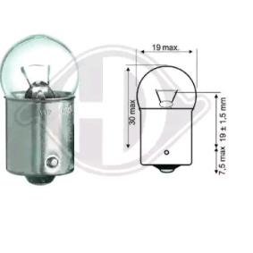 Bulb, interior light R5W, Ba15s, 5W, 12V LID10059 BMW 3 Series, 5 Series, 7 Series