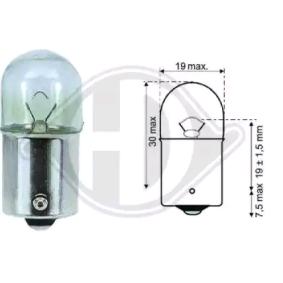 Bulb, stop light R10W, BA15s, 12V, 10W LID10061