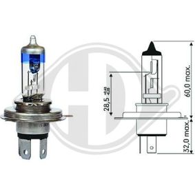 Bulb, headlight with OEM Number 0924714/0