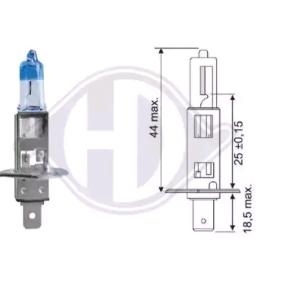 Bulb, headlight H1, P14,5s, 55W, 12V LID10065 FORD FOCUS, FIESTA, MONDEO