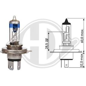 Bulb, headlight with OEM Number 09247140