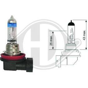 Glühlampe, Hauptscheinwerfer H11, PGJ19-2, 55W, 12V LID10070 VW GOLF, PASSAT, TRANSPORTER
