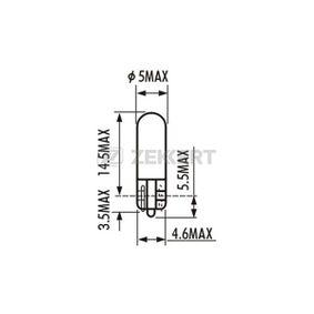 Bulb, instrument lighting 12V 1,2W, W2W, W2x4,6d LP-1080 VOLVO C70 I Convertible (873)