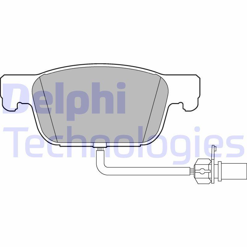 DELPHI  LP3219 Bremsbelagsatz, Scheibenbremse Höhe: 64mm, Dicke/Stärke 1: 17mm