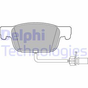 DELPHI  LP3219 Kit de plaquettes de frein, frein à disque Hauteur: 64mm, Épaisseur 1: 17mm