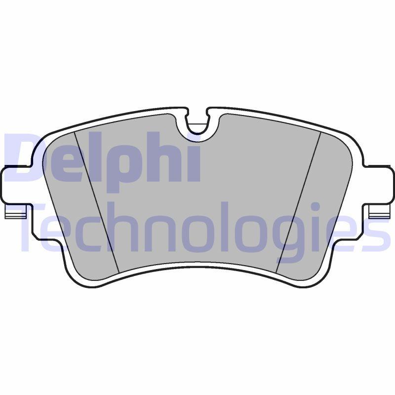 DELPHI  LP3240 Brake Pad Set, disc brake Height 2: 59mm, Height: 59mm, Thickness 1: 17mm, Thickness 2: 17mm