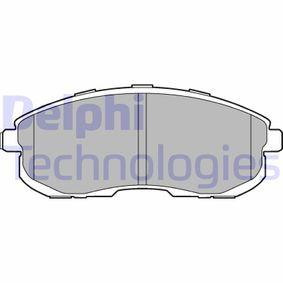 2006 Nissan Note E11 1.6 Brake Pad Set, disc brake LP3245