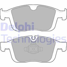 DELPHI  LP3258 Kit de plaquettes de frein, frein à disque Hauteur: 72mm, Épaisseur 1: 19mm