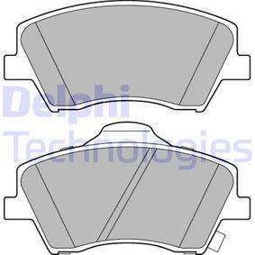 DELPHI  LP3264 Kit de plaquettes de frein, frein à disque Hauteur: 60mm, Épaisseur 1: 18mm