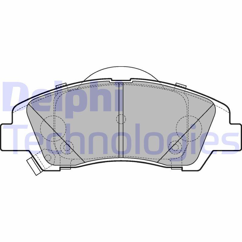 DELPHI  LP3265 Bremsbelagsatz, Scheibenbremse Höhe: 50mm, Dicke/Stärke 1: 16mm