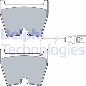 Kit de plaquettes de frein, frein à disque Hauteur: 74,4mm, Epaisseur 2: 16,3mm avec OEM numéro 8U0698151J