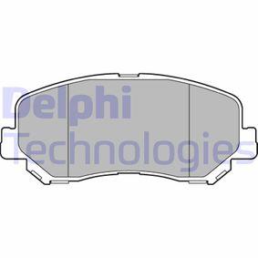 DELPHI  LP3269 Kit de plaquettes de frein, frein à disque Hauteur: 61mm, Épaisseur 1: 21mm