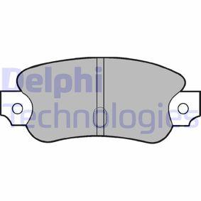 DELPHI  LP57 Kit de plaquettes de frein, frein à disque Hauteur: 40mm, Épaisseur 1: 15mm