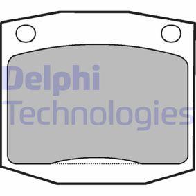DELPHI  LP96 Kit de plaquettes de frein, frein à disque Hauteur: 56mm, Épaisseur 1: 14mm