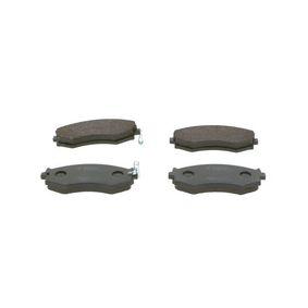 Bremsbelagsatz, Scheibenbremse Breite: 137,2mm, Höhe: 54,7mm, Dicke/Stärke: 17mm mit OEM-Nummer 58101 34A21