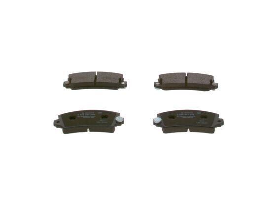BOSCH  0 986 461 396 Bremsbelagsatz, Scheibenbremse Breite: 109mm, Höhe: 49,3mm, Dicke/Stärke: 13,87mm