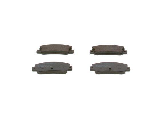 BOSCH  0 986 461 770 Bremsbelagsatz, Scheibenbremse Breite: 108,8mm, Höhe: 48mm, Dicke/Stärke: 12mm