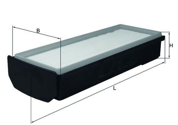 KNECHT  LX 2796/1 Luftfilter Breite: 175mm, Höhe: 81mm, Länge über Alles: 365,3mm, Länge: 354,8mm