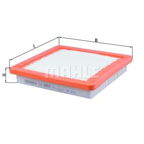 Air Filter Width: 203mm, Height: 36mm, Total Length: 191,0mm with OEM Number 165463VD0A