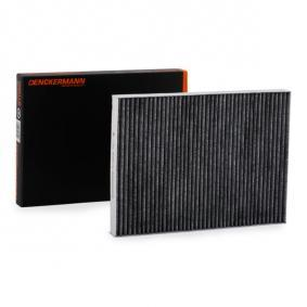 Filter, interior air Length: 280mm, Width: 207mm, Height: 25mm with OEM Number 1H0 091 800SE